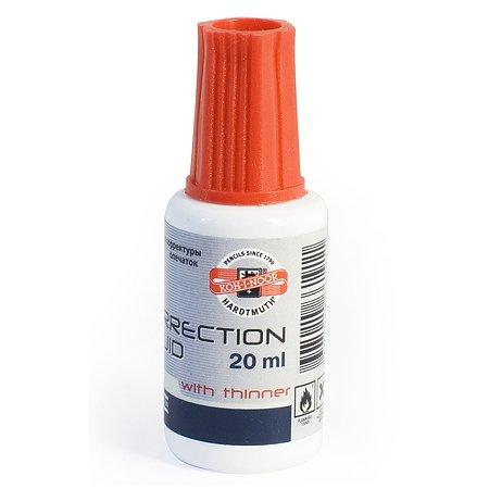 Корректирующая жидкость Koh-I-Noor с кисточкой 20 мл
