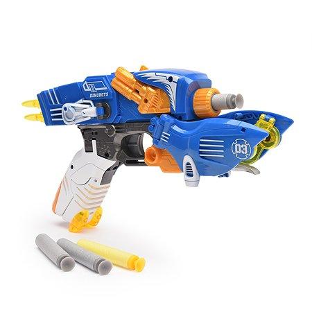 Пистолет-робот 2 в 1 Devik Toys Птерозавр с 6 мягкими патронами