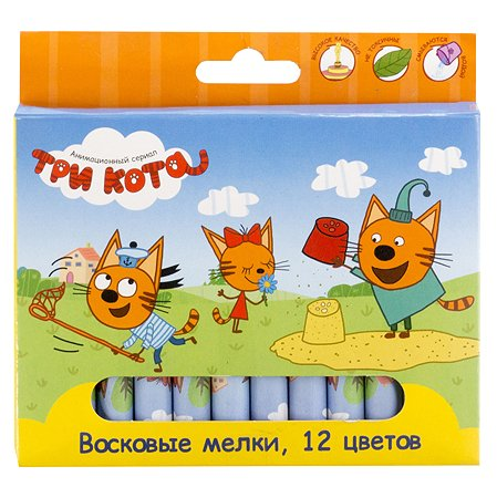 Набор восковых мелков Kinderline Три кота 12шт