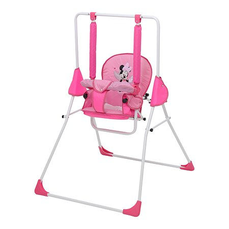 Качели Polini kids Disney baby Минни Маус с вышивкой Розовый