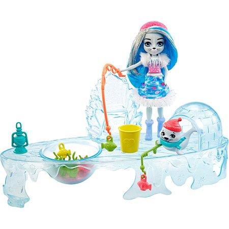 Набор игровой Enchantimals Снежная долина Рыбалка на льду GJX48
