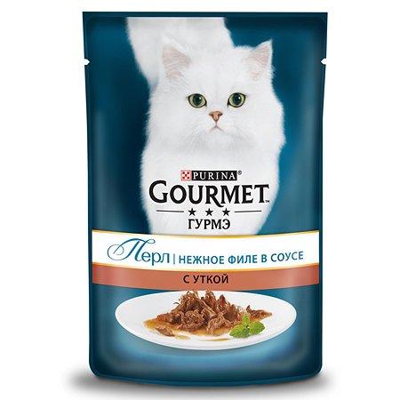 Корм влажный для кошек Gourmet Gold Perle 85г Мини-филе с уткой пауч