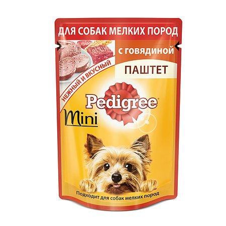 Корм для собак Pedigree для мелких пород паштет с говядиной пауч 80г