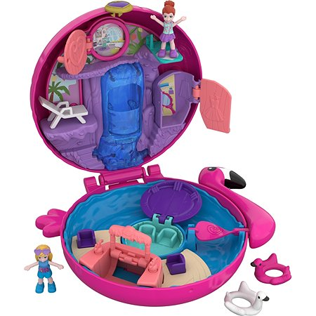 Набор игровой POLLY POCKET Аквапарк Фламинго компактный FRY38