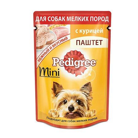 Корм для собак Pedigree для мелких пород паштет с курицей пауч 80г