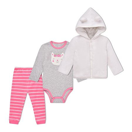Комплект BabyGo боди + брюки + куртка