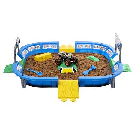 Набор игровой Monster Jam Арена+машинка+кинетический песок 6046704