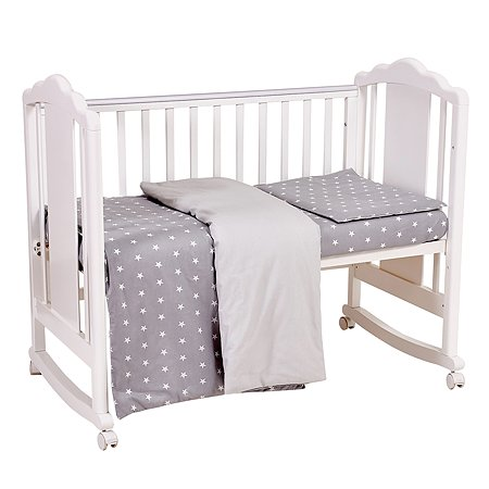 Комплект постельного белья Polini kids Звезды 3предмета Серый