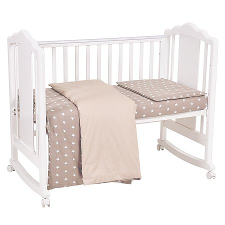 Комплект постельного белья Polini kids Звезды 3предмета Макиато