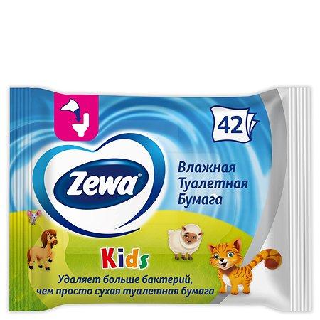 Туалетная бумага Zewa Kids влажная 42шт 6787