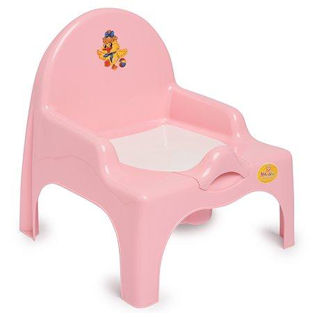 Стульчик детский Полимербыт туалетный Розовый