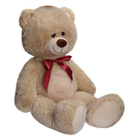 Мягкая игрушка Laffi Медвежонок бежевый 95см