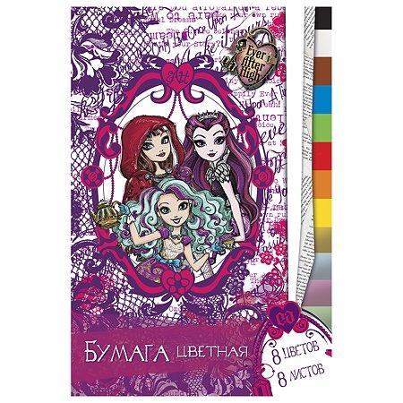 Цветная бумага А4 Barbie 8цв 8л