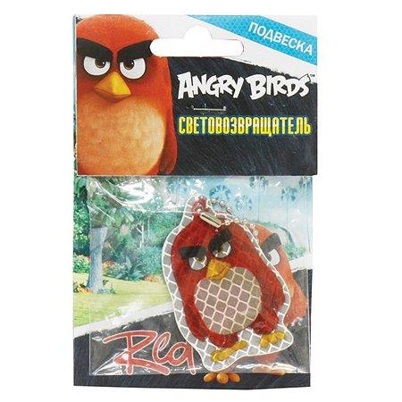 Пешеходный светоотражатель 1TOY Angry Birds  (красный)