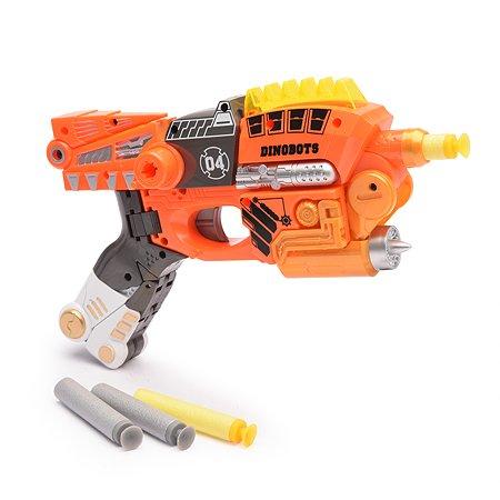 Пистолет-робот 2 в 1 Devik Toys Велоцираптор с 6 мягкими патронами