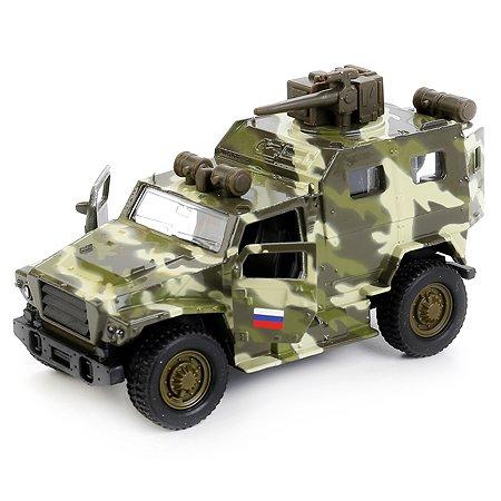Машина Технопарк ВПК инерционная Волк Зеленая 256366
