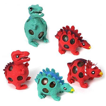 Жмяка 1TOY Мелкие пакости Динозавр с шариками в ассортименте Т14718