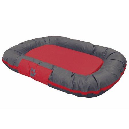 Лежак для животных Nobby Reno средний Серый-Красный 92х68х11 см