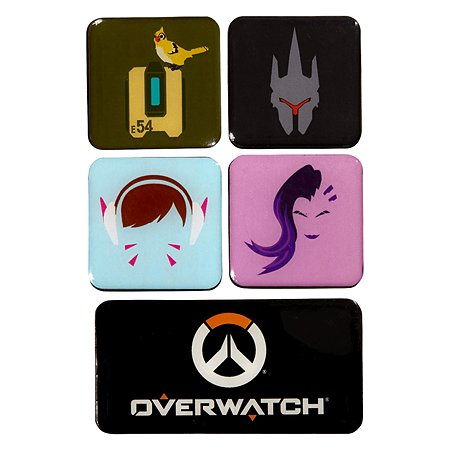 Набор магнитов Blizzard Overwatch 2 5штук B62499