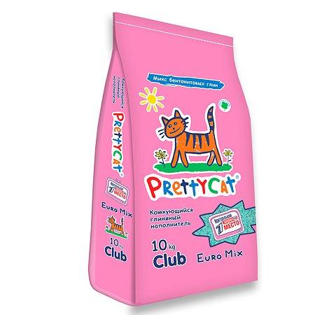 Наполнитель для кошек PrettyCat Euro Mix комкующийся 10кг