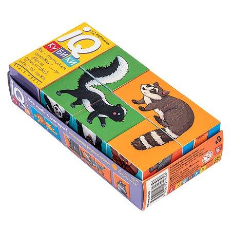 Набор Айрис ПРЕСС IQ кубики Фигурные Кто живет в зоопарке 6шт