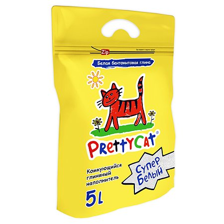 Наполнитель для кошек PrettyCat Супер белый комкующийся 5л
