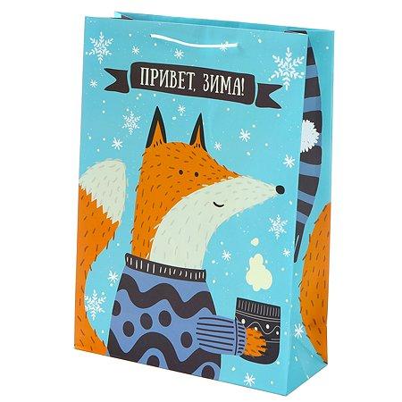 Пакет подарочный Феникс Презент Новый год 26*32.4*12.7см 140 г/м2 81077