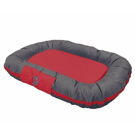 Лежак для животных Nobby Reno большой Серый-Красный 113х83х12 см