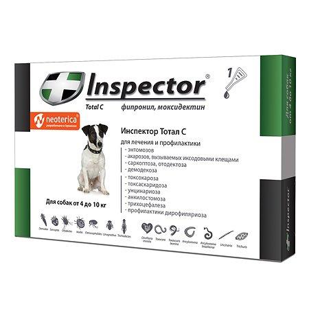 Капли для собак Inspector 4-10кг от внешних и внутренних паразитов 0.8мл