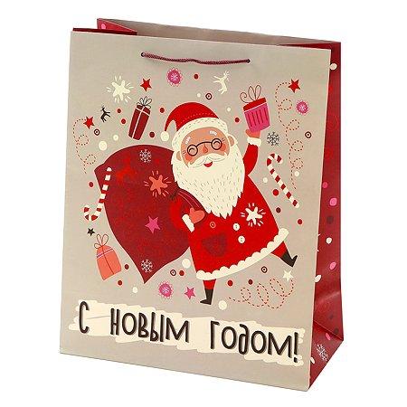 Пакет подарочный Феникс Презент Новый год 26*32.4*12.7см 140 г/м2 81079