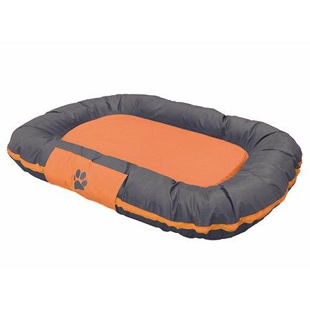 Лежак для животных Nobby Reno средний Серый-Оранжевый 80х58х10 см
