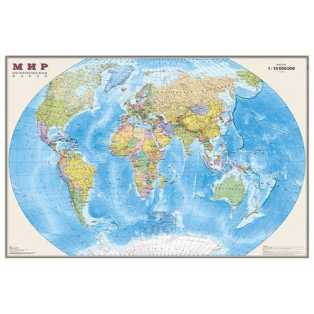 Политическая карта мира Ди Эм Би 1:15 млн