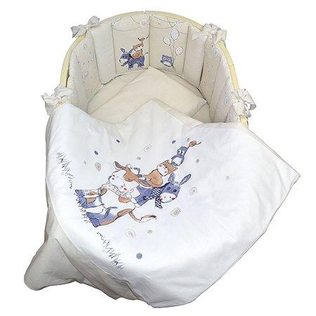 Комплект в кроватку Babyton Милка 6 предметов