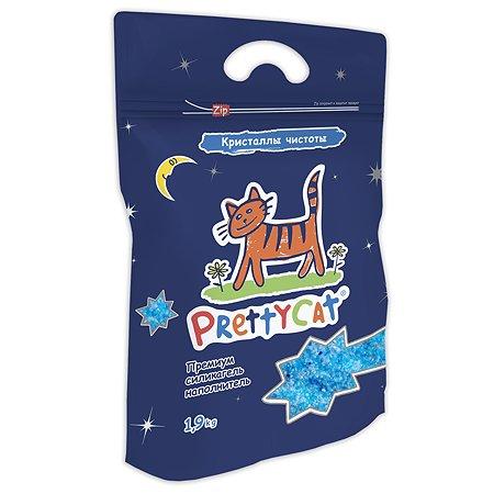 Наполнитель для кошек PrettyCat силикагелевый кристаллы чистоты 1.9кг