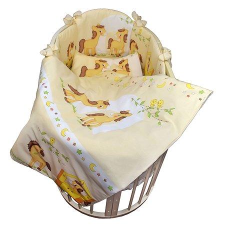 Комплект в кроватку L'Abeille Лошадки 6 предметов 7123