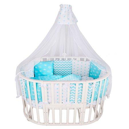 Комплект постельного белья AMARO BABY Королевский 7предметов Бирюзовый