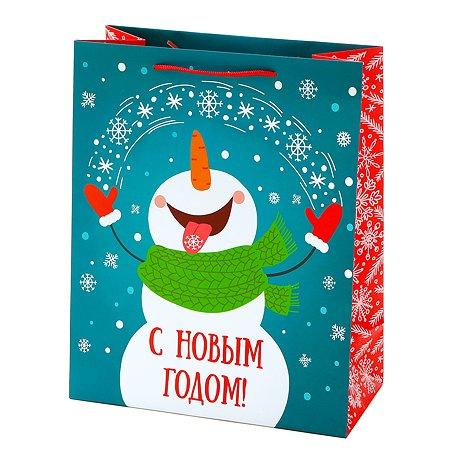 Пакет подарочный Феникс Презент Новый год 26*32.4*12.7см 140 г/м2 81081