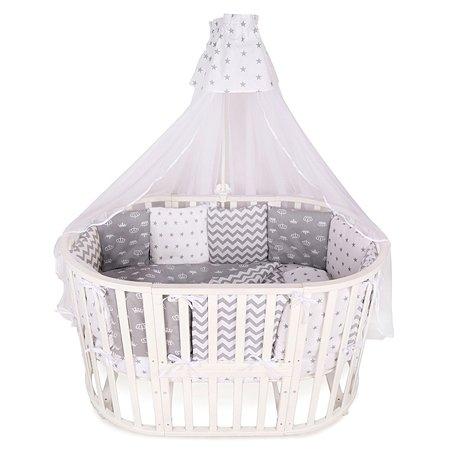 Комплект постельного белья AMARO BABY Королевский 7предметов Серый