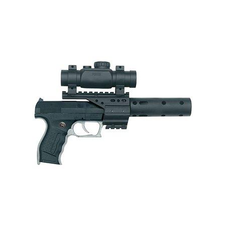 Пистолет Schrodel PB 001 13 зарядов(глушитель и телескопический прицел)29см.
