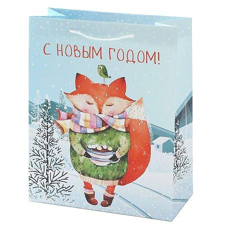 Пакет подарочный Феникс Презент Новый год 26*32.4*12.7см 140 г/м2 81083