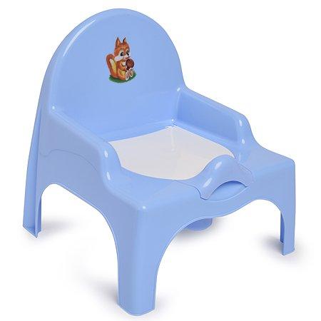 Стульчик детский Полимербыт туалетный Голубой