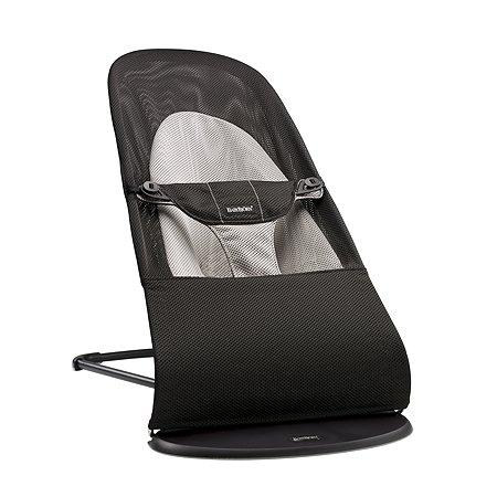 Кресло-шезлонг BabyBjorn Balance Soft Air черн/серый