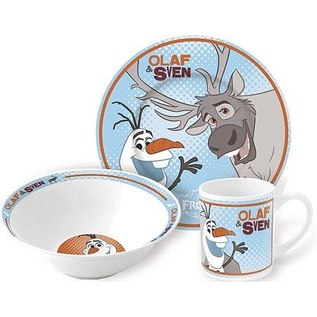 Набор керамической посуды STOR в подарочной упаковке Snack Set Olaf & Sven Orange (3 шт.)