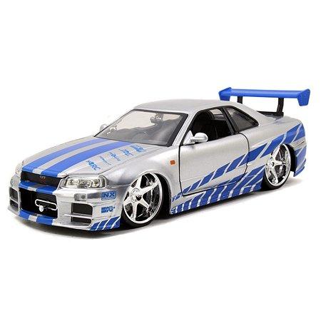 Машинка Fast and Furious Форсаж 1:24 Nissan Skyline GT-R (R34)