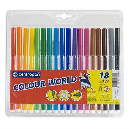 Фломастеры Centropen Colour World 18 цветов