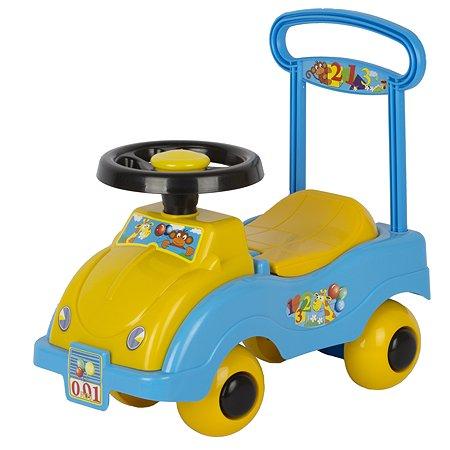 Каталка-автомобиль СПЕКТР желто/голубой