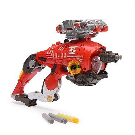 Пистолет-робот 2 в 1 Devik Toys Тираннозавр с 10 мягкими патронами