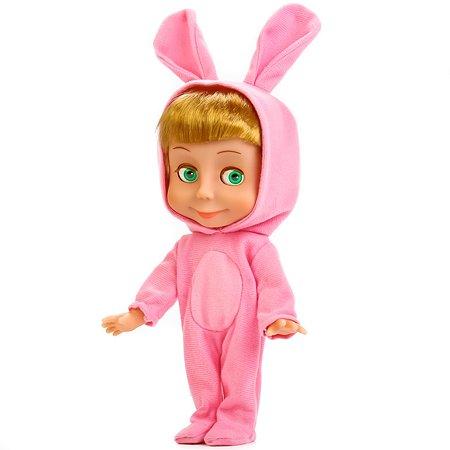 Кукла Карапуз Маша и медведь Маша в костюме зайца