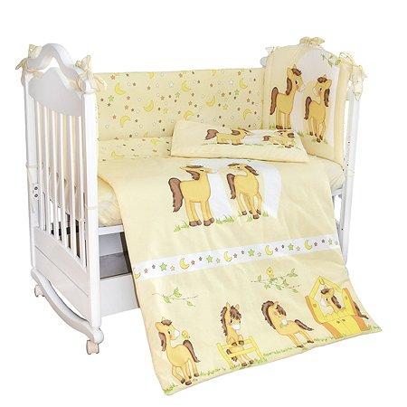 Комплект в кроватку L'Abeille Лошадки 4 предмета 5123/4