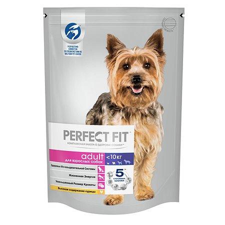 Корм для собак PerfectFit для мелких и миниатюрных пород с курицей сухой 500г